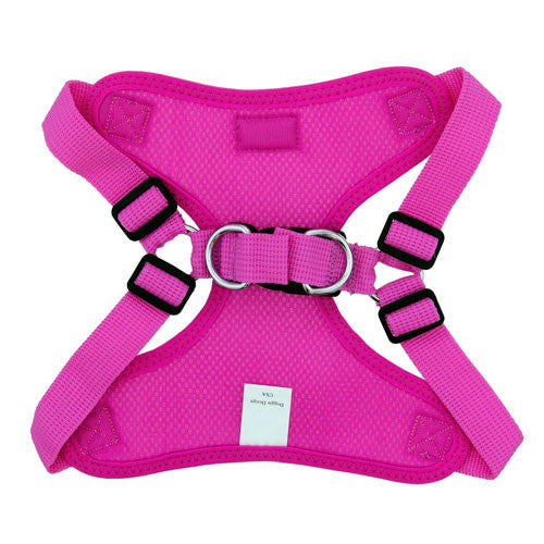 Doggie Design Wrap and Snap Choke Free Dog Harness Raspberry Pink Back