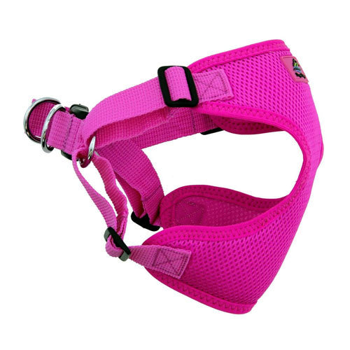 Doggie Design Wrap and Snap Choke Free Dog Harness Raspberry Pink Side