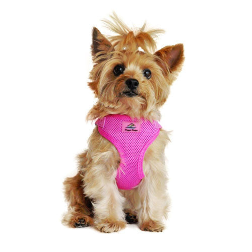 Doggie Design Wrap and Snap Choke Free Dog Harness Raspberry Pink on Dog
