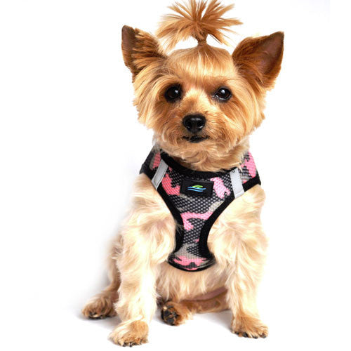 Doggie Design Cano American River Choke Free Dog Harness — Pink Camo on Dog