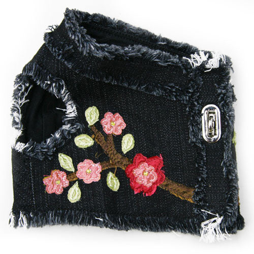 Dog in The Closet Robin Embellished Denim Vest Harness Alt Side View