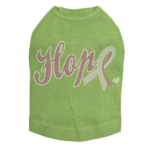 Dog In The Closet Breast Cancer Awareness Hope with Cancer Dog Tank Green