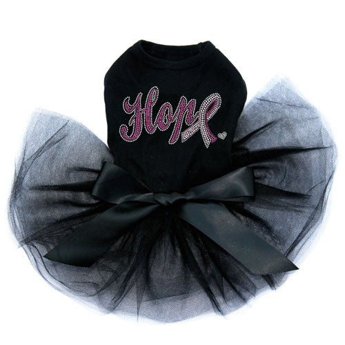 Dog In The Closet Breast Cancer Awareness Hope with Cancer Dog Tutu Dress Black