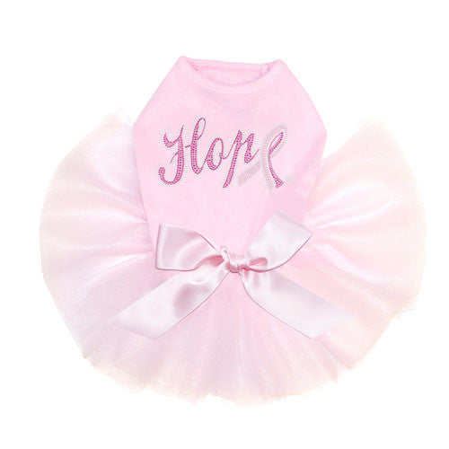 Dog In The Closet Breast Cancer Awareness Hope with Cancer Dog Tutu Dress Pink