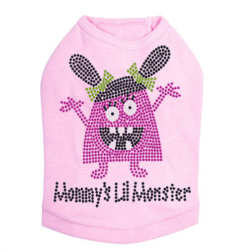 Dog In The Closet Mommy's Lil Monster Rhinestone Dog Tank Shirt