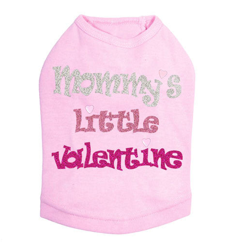 Dog In The Closet Mommy's Little Valentine Dog Tank Tee Light Pink