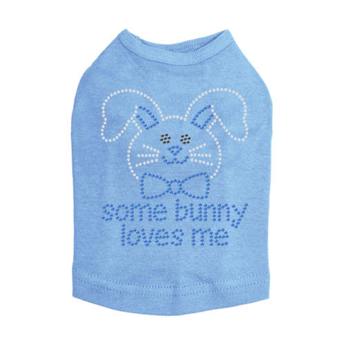 Some Bunny Love Me Easter Blue Dog Tank Shirt Dog In The Closet
