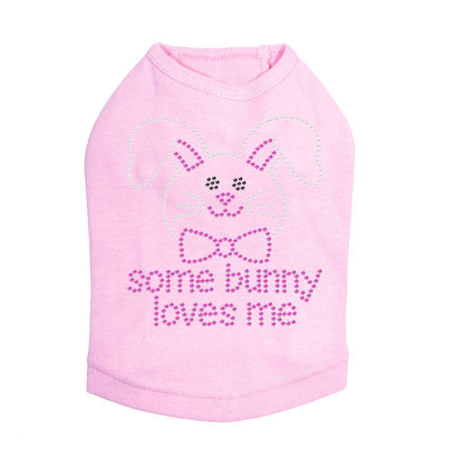 Some Bunny Love Me Easter Pink Dog Tank Shirt Dog In The Closet