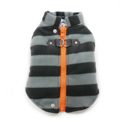 Dogo Pet Fashions Active Fleece D-Ring Winter Dog Coat Back View