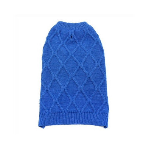 Dogo Pet Fashions Blue Diamond Knit Dog Sweater