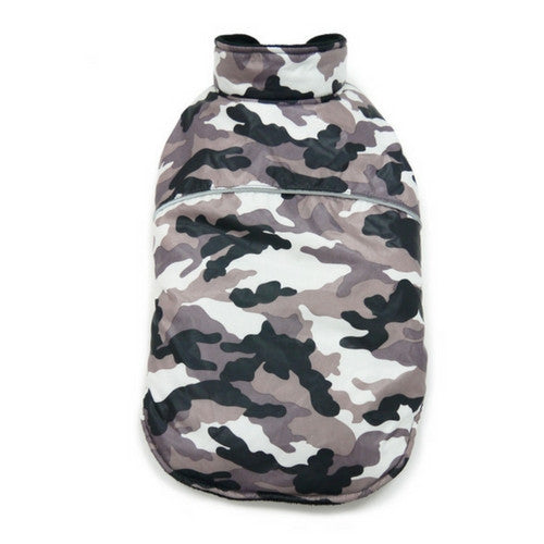 Dogo Pet Fashions Puppy PAWer Camo Sport Puffer Winter Dog Coat back view
