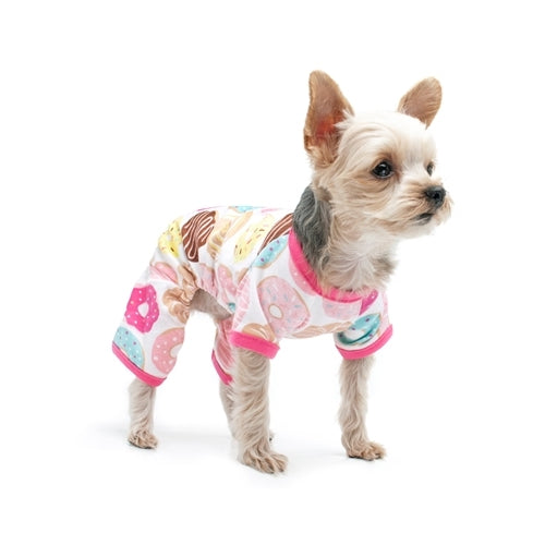 Dogo Pet Fashions Donuts PJ Four-Leg Dog Pajamas on Dog