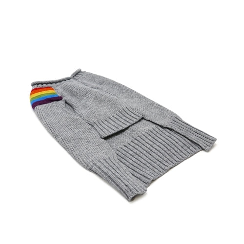 Dogo Pet Fashions Rainbow Turtleneck Dog Sweater Front View