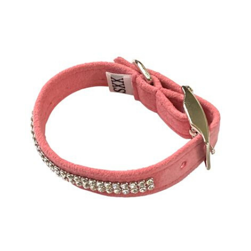 The Dog Squad Glamour Girl Swarovski Crystal Dog Collar — Bubblegum