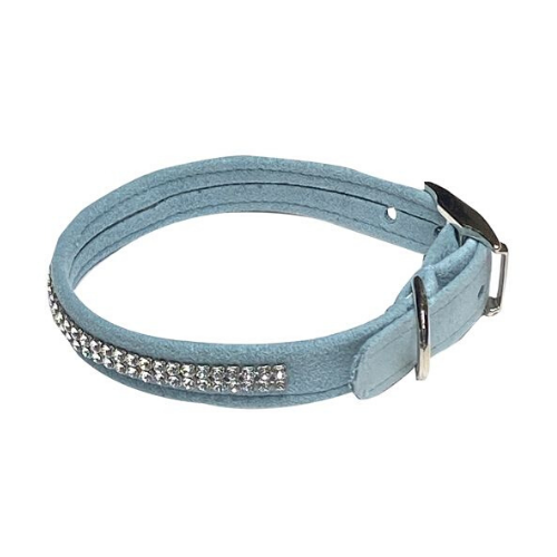 The Dog Squad Glamour Girl Swarovski Crystal Dog Collar — Blue Horizon