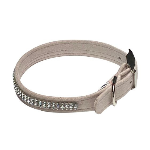 The Dog Squad Glamour Girl Swarovski Crystal Dog Collar — Light Rose