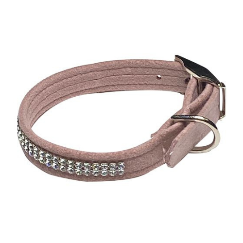 The Dog Squad Glamour Girl Swarovski Crystal Dog Collar — Rosewood