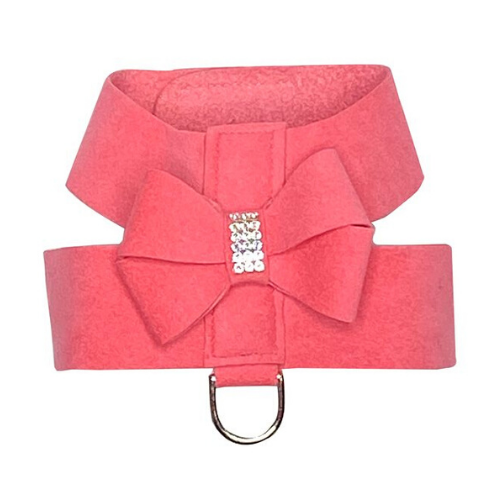 The Dog Squad Hollywood Bow Swarovski Crystal Dog Harness — Bubblegum