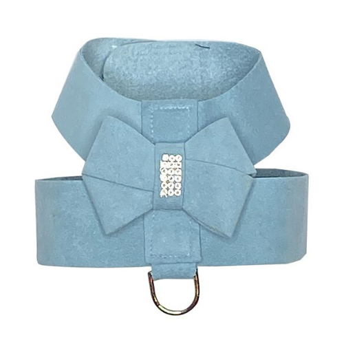 The Dog Squad Hollywood Bow Swarovski Crystal Dog Harness — Horizon Blue