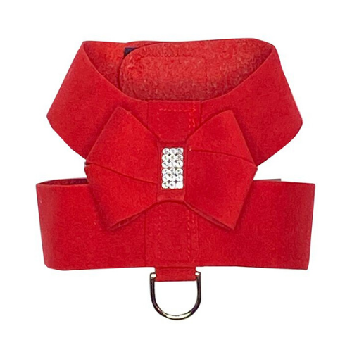 The Dog Squad Hollywood Bow Swarovski Crystal Dog Harness — Red