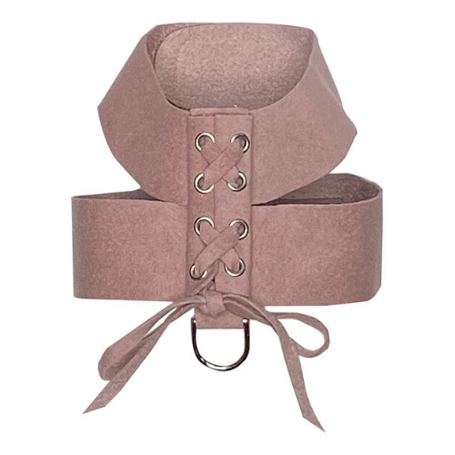 The Dog Squad Parisian Corset Ultrasuede Velcro Dog Harness — Rosewood