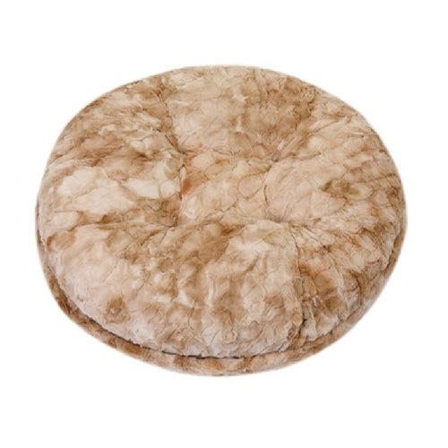 Doggy Wrappers Beige Rabbit Round Nesting Dog Bed