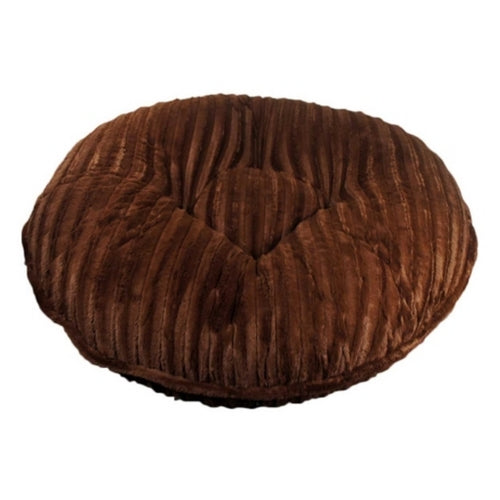 Doggy Wrappers Brown Mink Round Nesting Dog Bed