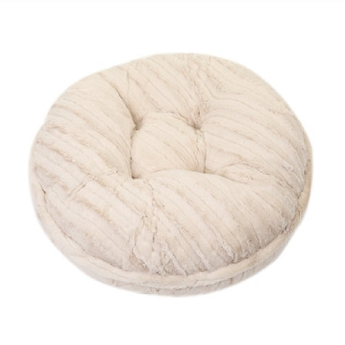 Doggy Wrappers Cream Mink Round Nesting Dog Bed