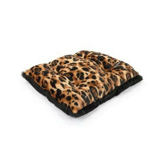 Doggy Wrappers Baylee Nasco Square Pillow Dog Bed — Big Cat + Black Shag
