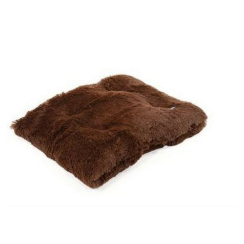Doggy Wrappers Baylee Nasco Square Pillow Dog Bed — Chocolate Shag