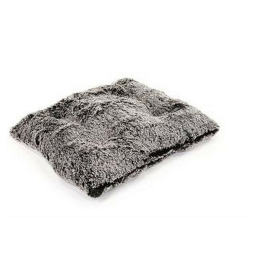 Doggy Wrappers Baylee Nasco Square Pillow Dog Bed — Frosted Black Shag