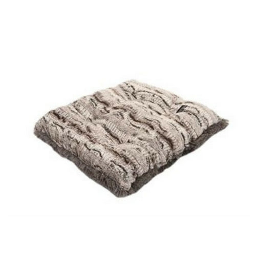 Doggy Wrappers Baylee Nasco Square Pillow Dog Bed — Gator+ Grey Shag