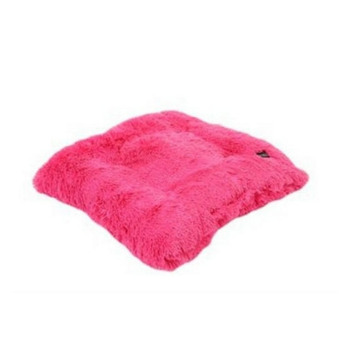 Doggy Wrappers Baylee Nasco Square Pillow Dog Bed — Hot Pink Shag