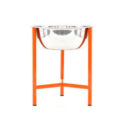 Doca Pet Steel Y.Bowl Elevated Feeder Dog Stainless Steel Bowl Large Orange