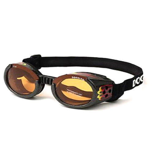 Doggles Dog Eye Protection ILS Goggles — Racing Flames