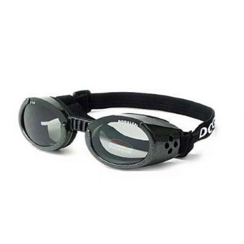 Doggles Dog Eye Protection ILS Goggles — Metallic Black