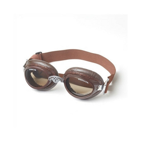 Doggles Sidecar Protective Dog Eyewear Goggles Brown Frame Copper Lens