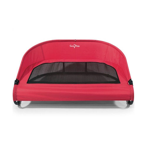 Gen7Pets Red Elevated Cool-Air Cot Dog Bed Red