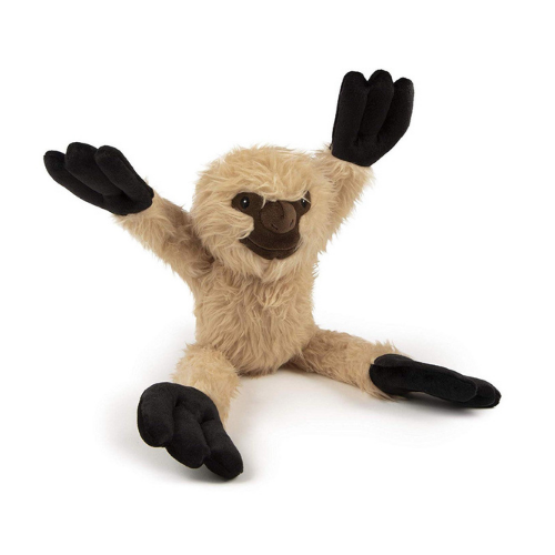 GoDog Crazy Tug Sloth Plush Chew Guard Durable Squeaky Stretch Dog Toy