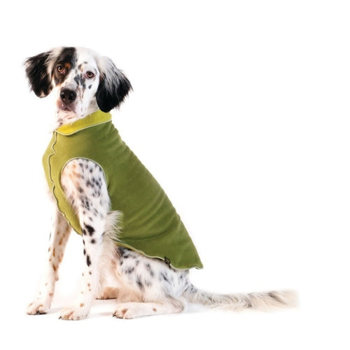 Gold Paw Series Duluth Double Fleece Pullover Dog — Avocado Moss Green