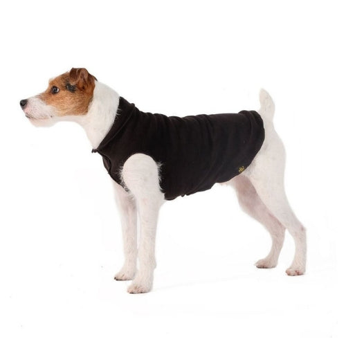 Gold Paw Series Duluth Double Fleece Pullover Dog — Black and Black