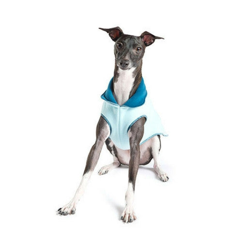 Gold Paw Series Duluth Double Fleece Pullover Dog — Marine Robin Egg Blue