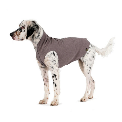 Gold Paw Series Stretch Fleece Pullover Dog Clothing — Charcoal Grey