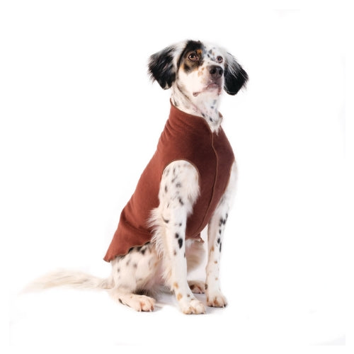 Gold Paw Series Stretch Fleece Pullover Dog Clothing — Chestnut