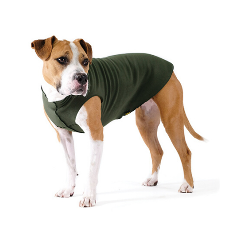 Gold Paw Series Stretch Fleece Pullover Dog Clothing — Hunter Green