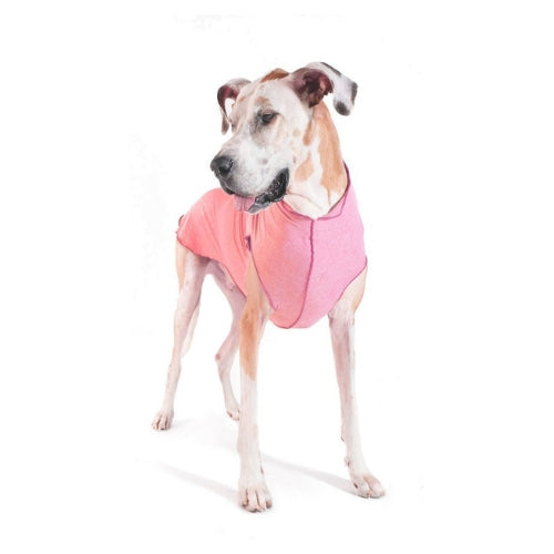 Gold Paw Series Sun Shield UV Protection Dog Tee Shirt Coral Heather