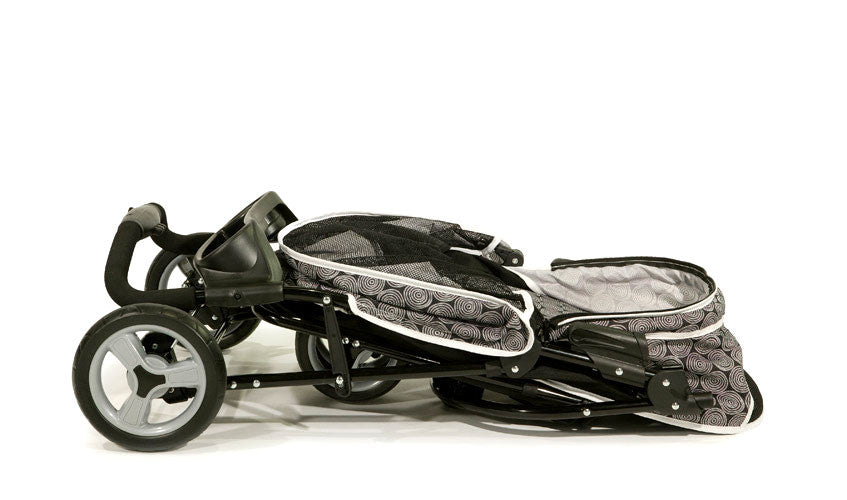 Gen7Pets Promenade Pet Dog 3-Wheel Stroller Folded
