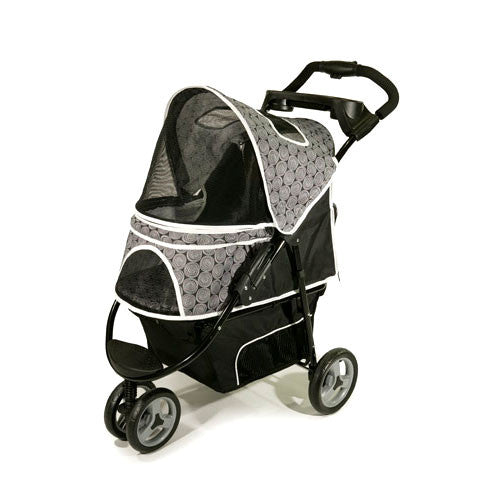 Gen7Pets Promenade Pet Dog 3-Wheel Stroller Black Onyx