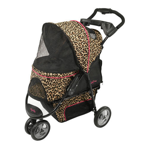 Gen7Pets Promenade Pet Dog 3-Wheel Stroller Cheetah