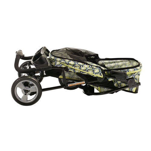Gen7Pets Promenade Pet Dog 3-Wheel Stroller Raindrop Folded